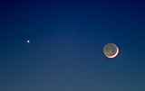 A Young Moon and Venus