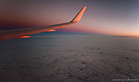 Into the Night - Sunset from 39,000 ft.