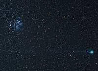 Comet Lovejoy & the Pleiades