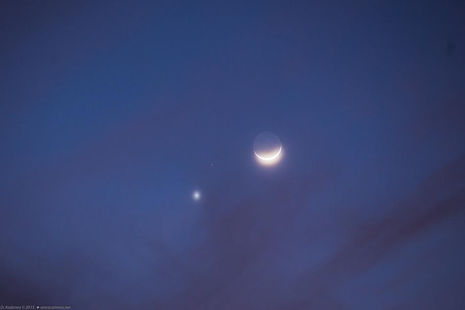 Moon-Venus-Mars Conjunction - 20 Feb  2015
